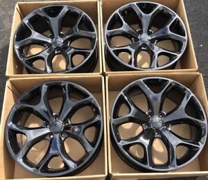 20 Dodge Challenger Charger Rt Oem Factory Wheels Rims 2523 Set 4 Gloss Black