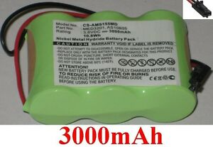 Battery 3000mah For Alaris Medicalsystems Medsystem Iii