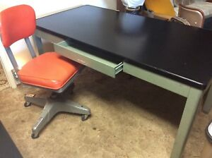 Vintage Tanker Industrial Desk Heavy Metal Steel Retro