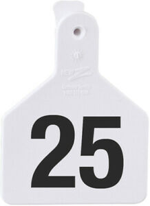 Z Tags Calf White Numbered Ear Tags 126 150