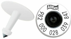 Allflex High Performance Hdx Ultra White Male Ear Tags 1000 Count Tamperproof