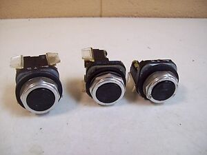 Allen bradley 800t a Ser t Black Pushbutton Lot Of 3 Used Free Shipping