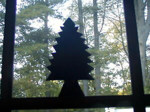 Primitive Early 18th C Style Tin Evergreen Christmas Tree Quilting Template