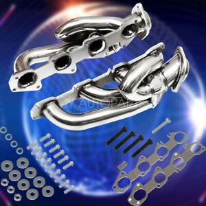 For 2009 2016 Dodge Ram 1500 Headers Exhaust Shorty Hemi Manifold Stainless 5 7l