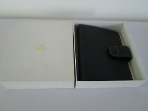 Piaget Blue Grained Leather Organiser Boxed With Filofax Personal Size Inserts