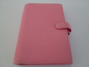Filofax Organiser Rio Personal Size Pink Grained Leather