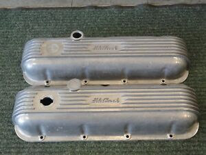 Vintage Edelbrock Bbc Big Block Chevy Aluminum Valve Covers No 4180