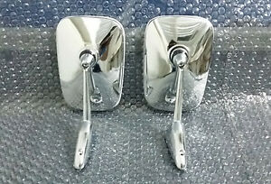 Door Mirrors Chrome Fit For Datsun Pick Up Ute 520 521 620 720