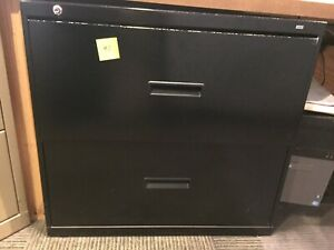 Hon Black 2 Drawer Lateral File Cabinet Pick Up Only