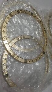 1 Set Of 4 New Zenith Wire Wheel Locking Knock Off Zenith Usa Gold Metal Rings