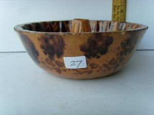 Antique Redware Pottery Molded Bowl 2 Tall 7 Wide 1830 1870 45 27