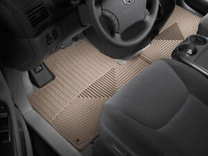 Weathertech All Weather Floor Mats For Toyota Sienna 2004 2010 1st Row Tan