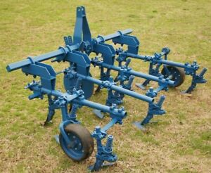 Ford 2 Row Spring Cultivator Trip Toolbar 3 Point Hitch Adjustable Row Width