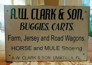 A W Clark Son Buggies Carts Farm Jersey And Road Wagons Horse And Mule
