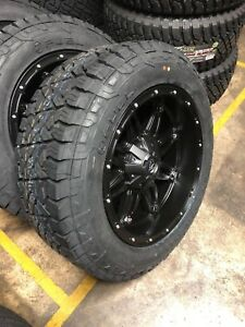 20x10 Fuel Hostage Black Wheels 33 At Tires Package 8x165 1 Chevy Gmc 2500 3500