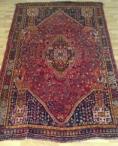 Beautiful Oriental Area Rug Hand Knotted Persian Carpet Wool 7 91 X 5 25 Feet
