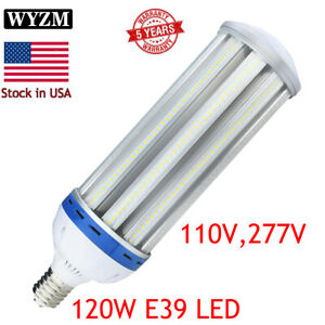 100w 120watt Led Corn Light Bulb 5000k Daylight Large Mogul E39 Base Ac100 277v