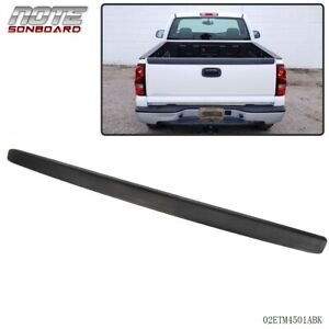 For 1999 2007 Chevy Silverado Gmc Sierra Sl Black Tailgate Moulding Protector