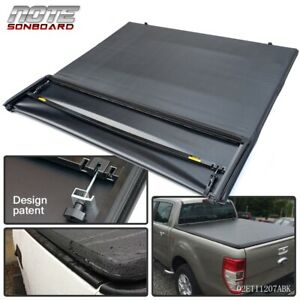 For 1997 2003 Ford F 150 6 5ft 78in Bed Black Four Fold Soft Tonneau Cover