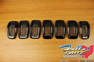 2014 2018 Jeep Cherokee Gloss Black Front Grille Grill Inserts Mopar Oem