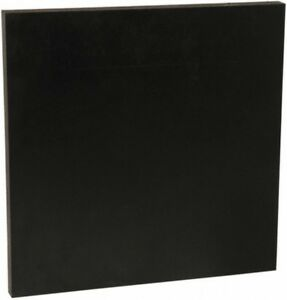 Made In Usa 12 X 12 X 3 4 Inch Abs Plastic Sheet Black Rockwell R 105