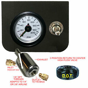 Air Suspension Controller Toggle Paddle Switch Gauge Up down return Center