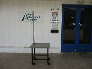 Stainless Steel 29 X 23 Top Table W casters Hanger Rod 4019