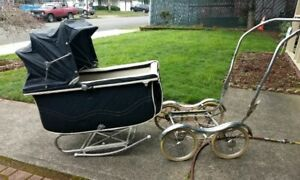 Vintage Antique Baby Carriage Stroller Genuine Stroll O Chair