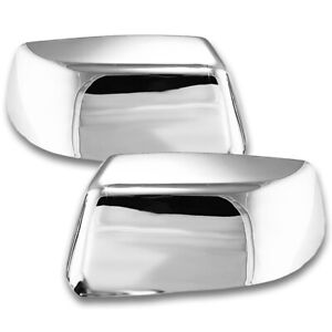 For 2014 2018 Chevrolet Suburban Chrome Top Half Mirror Cover Overlay Trim X2
