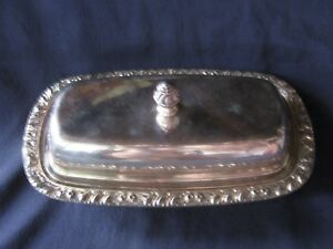L K Vintage Silverplate Butter Dish No Glass Liner No Visible Maker S Mark