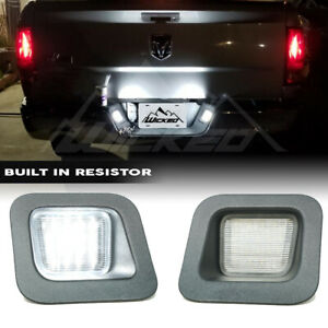 For 2003 2018 Dodge Ram 1500 2500 3500 3w Led License Plate Light Housing Pair