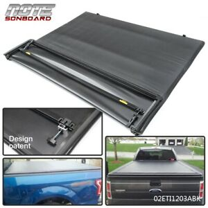 Lock Four Fold Tonneau Cover 5 5 Ft Short Bed Black For 04 08 F150 F 150 Extra