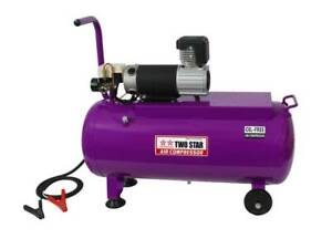 Two Star 12vdc Professional Portable Oil Free Air Compressor With 50 Liters Tank