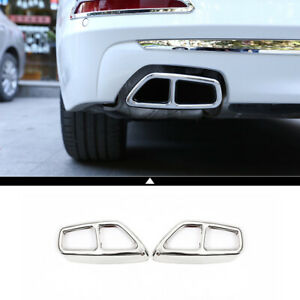 2pcs Car Exhaust Muffler Cover Trim Accessories For Bmw New 5 Series G30 2018