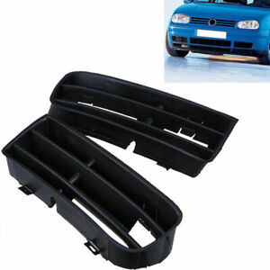1 Pair For 1999 2006 Vw Golf Mk4 Front Bumper Lower Plastic Grille 1j0853665b