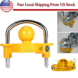 Heavy Duty Universal Coupler Hitch Trailer Lock Fits 1 7 8 2 And 2 5 16