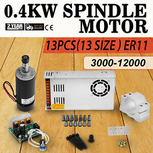 Cnc 0 4kw Spindle Motor Er11 Mach3 Pwm Controller Mount Cheap Kit Engraving