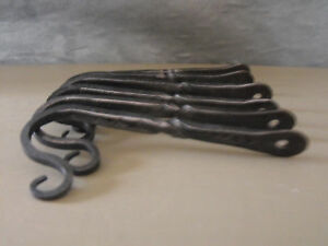 Old Forge Wrought 5 Square Wall Mount Hooks W Twist Set Of 8