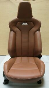 2014 2017 Bmw F82 M4 Coupe Front Right Passenger Seat Leather Brown Oem A9673