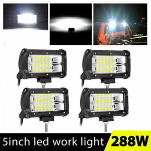4x 5inch Led Work Light Bars Flood Truck Boat Atv Off road Bumper Driving Pods