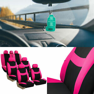 Seat Cover For Suv Universal Fit Pink Black W Free Gift For 3 Row 7 Seaters