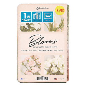 Franklincovey 35438 Blooms Dated Daily Planner Refill January december 4 3 4 X