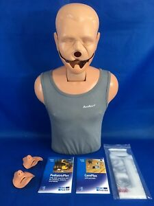 Ambu Cpr Training Pal Dummy Manikin With Manuals 2 Face Pieces Plastic Covers