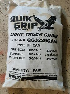 Security Chain Company Quik Grip Wide Base Cam dh Light Truck Tire Chain Set