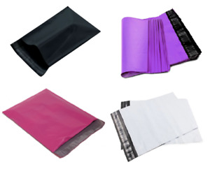 Pick Color Quantity Poly Mailers 19x24 Shipping Bag White Black Pink Or Purple