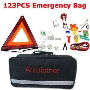 123 Piece Car Roadside Emergency Kit And First Aid Kit Safety Accessories Tools