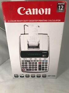 Canon Mp11dx 2 color Heavy Duty Desktop Printing Calculator New