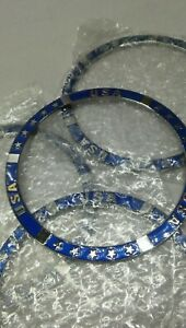 New Zenith Wire Wheel Locking Knock Off Rings Candy Blue Metal Rings