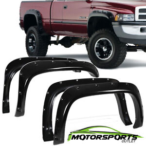 For 1994 2002 Dodge Ram 1500 2500 3500 Matte Black Fender Flares Pocket Style