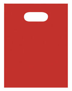 Small Low Density Red Merchandise Bags Case Of 1 000
